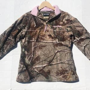 Realtree Camouflage Fleece Quarter Zip Jacket